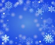 Fondo del copo de nieve Fotografía de archivo