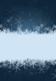 Fondo del copo de nieve con el espacio para el texto Foto de archivo libre de regalías