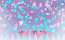 Fondo del copo de nieve de la Feliz Navidad ilustración del vector