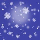 Fondo del copo de nieve de la Navidad Imágenes de archivo libres de regalías
