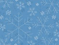 Fondo del copo de nieve del invierno Imagenes de archivo