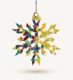 Fondo del copo de nieve del triángulo de los días de fiesta de la Navidad Imagenes de archivo