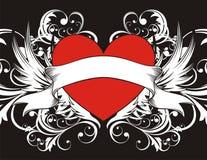 Fondo del corazón de Goth Fotografía de archivo libre de regalías