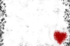 Fondo del corazón de Grunge stock de ilustración