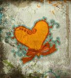 Fondo del corazón de Grunge Fotos de archivo libres de regalías