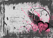 Fondo del corazón de Grunge Ilustración del Vector