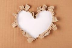 Fondo del corazón de la cartulina Imágenes de archivo libres de regalías