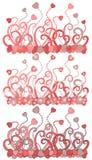 Fondo del corazón de la tarjeta del día de San Valentín Foto de archivo