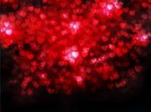 Fondo del corazón de la tarjeta del día de San Valentín Fotos de archivo libres de regalías