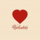 Fondo del corazón de la tarjeta del día de San Valentín con el mensaje de la tarjeta del día de San Valentín Imágenes de archivo libres de regalías