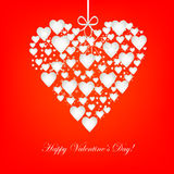 Fondo del corazón de las tarjetas del día de San Valentín Foto de archivo