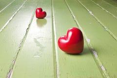 Fondo del corazón del amor de la separación Imagen de archivo libre de regalías