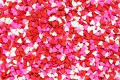 Fondo del corazón del caramelo del día de tarjetas del día de San Valentín Fotos de archivo libres de regalías