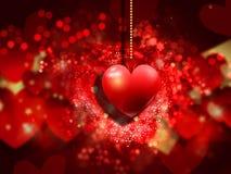 Fondo del corazón del día de tarjeta del día de San Valentín libre illustration
