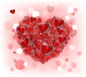 Fondo del corazón del día de tarjetas del día de San Valentín Foto de archivo libre de regalías