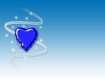 Fondo del corazón del invierno Imágenes de archivo libres de regalías