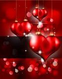 Fondo del corazón para el aviador de la tarjeta del día de San Valentín Imágenes de archivo libres de regalías