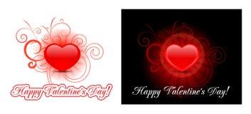 Fondo del corazón para el día de tarjeta del día de San Valentín Fotografía de archivo libre de regalías