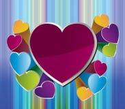 Fondo del corazón para el día de tarjeta del día de San Valentín Fotografía de archivo