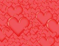 fondo del corazón 3d Fotografía de archivo libre de regalías
