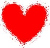 Fondo del corazón de Grunge (marco, frontera), vector Imagenes de archivo