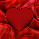 Fondo del corazón del mosaico que brilla intensamente abstracto. EPS 8 Imagen de archivo libre de regalías
