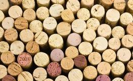 Fondo del corcho del vino imagenes de archivo