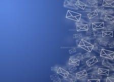 Fondo del correo de Digitaces Imagen de archivo