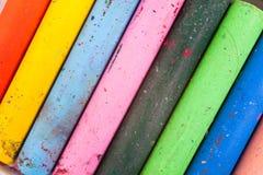 Fondo del creyón del color fotografía de archivo
