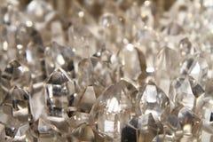 Fondo del cristallo di quarzo Immagini Stock