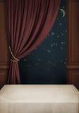 Fondo del cuarto con el vector, la ventana y el cur Fotos de archivo libres de regalías