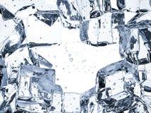 Fondo del cubetto di ghiaccio con spazio Fotografia Stock