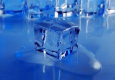 Fondo del cubo de hielo Fotos de archivo libres de regalías