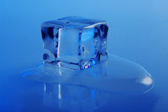 Fondo del cubo de hielo Foto de archivo
