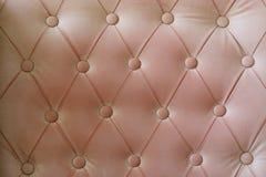 Fondo del cuero del sofá del vintage Fotos de archivo
