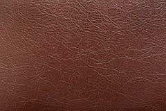 Fondo del cuero marrón Imagen de archivo libre de regalías