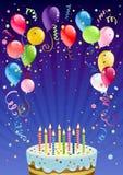 Fondo del cumpleaños Foto de archivo