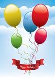 Fondo del cumpleaños Foto de archivo libre de regalías