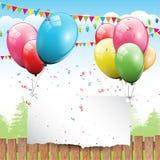 Fondo del cumpleaños Fotografía de archivo libre de regalías