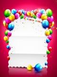 Fondo del cumpleaños Imagen de archivo libre de regalías