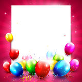 Fondo del cumpleaños Imágenes de archivo libres de regalías