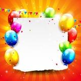 Fondo del cumpleaños Fotos de archivo