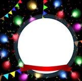 Fondo del cumpleaños con el bulbo colorido Imágenes de archivo libres de regalías