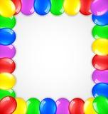 Fondo del cumpleaños con los globos Fotos de archivo libres de regalías
