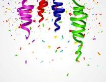 Fondo del cumpleaños con los globos coloridos Fotos de archivo