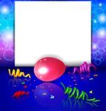 Fondo del cumpleaños con los globos coloridos Imágenes de archivo libres de regalías