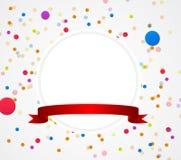 Fondo del cumpleaños con los globos coloridos Imagen de archivo libre de regalías