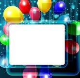 Fondo del cumpleaños con los globos coloridos Imagen de archivo