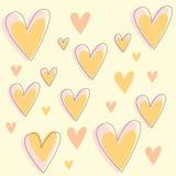 Fondo del cuore Fotografia Stock Libera da Diritti