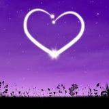 Fondo del cuore Immagine Stock